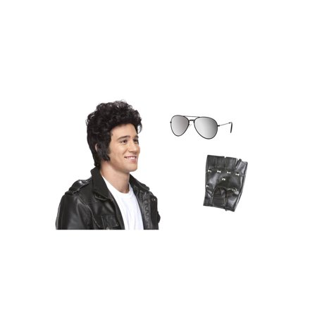 Greaser Rollin 80s Costume Kit - Black Mirror Aviators (Greasers Costumes)