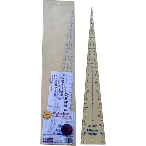 """Circle Wedge, 9 Degrees 18"""" Long with 1"""" Measuring"""