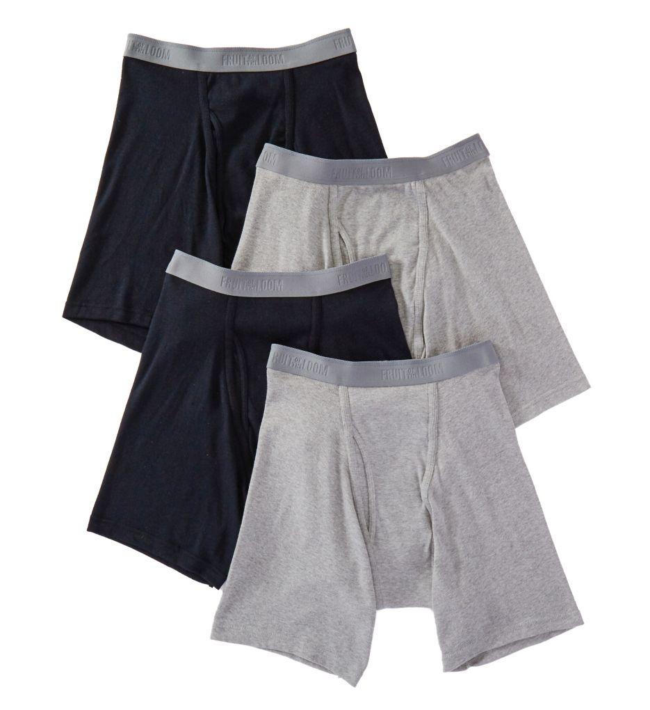 Men's Fruit Of The Loom JC4BB76 Premium Cotton Boxer Briefs - 4 Pack