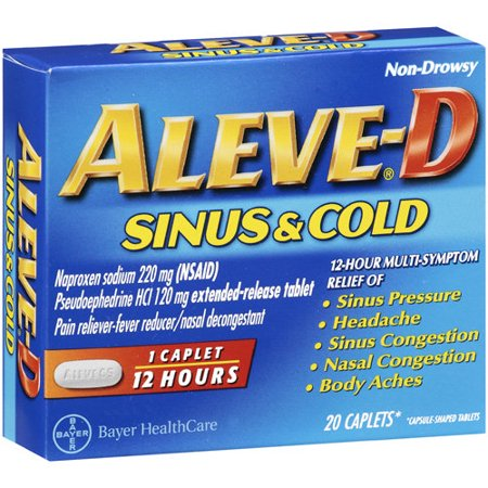 Aleve D Sinus And Cold Caplets Multi Symptom Relief 20