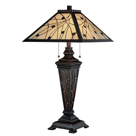 Lite Source Remus 2 Light Table Lamp in Dark Bronze