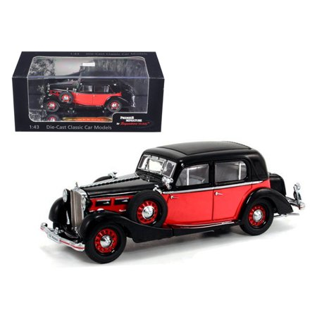 1935 Maybach Sw35 Spohn Black Red Hardtop 1 43 Diecast Car Model By Signature Models