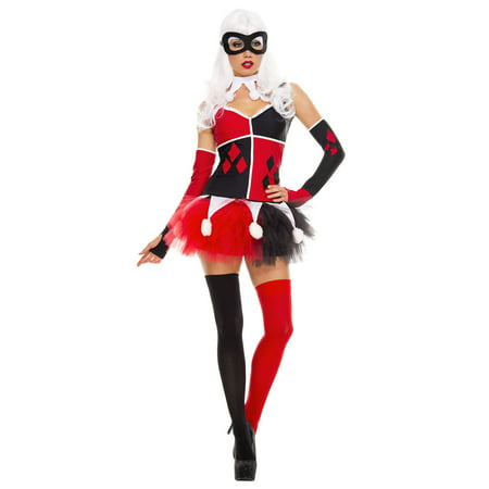 Harley Jester Adult Costume - (Women's Harley Jester Costumes)