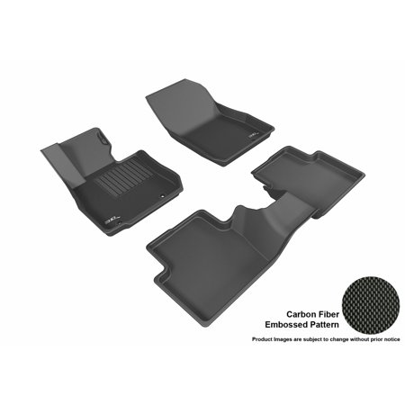 3D Maxpider 2016 2017 Mazda Cx 3 Front   Second Row Set All Weather Floor Liners In Black With Carbon Fiber Look
