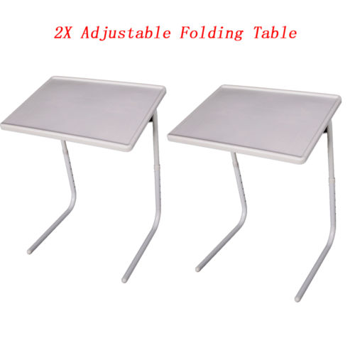 2pcs New Style Smart Table Mate Foldable Folding Tablemate Adjustable Tray  US