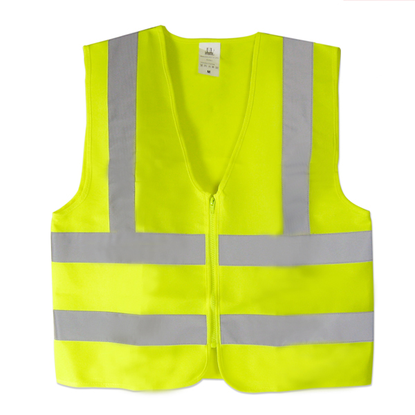 Neon Green Safety Vest Ansi Zipper Protective Xxlarge