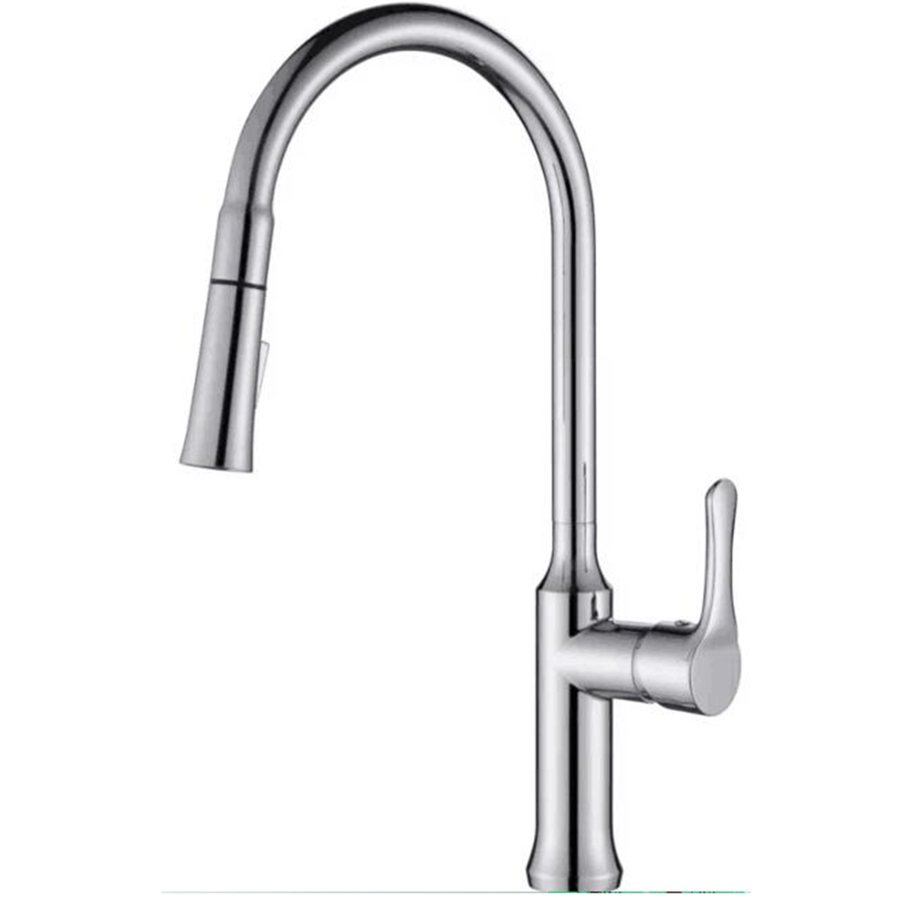 Pull Out Kitchen Faucet-Stain Finish
