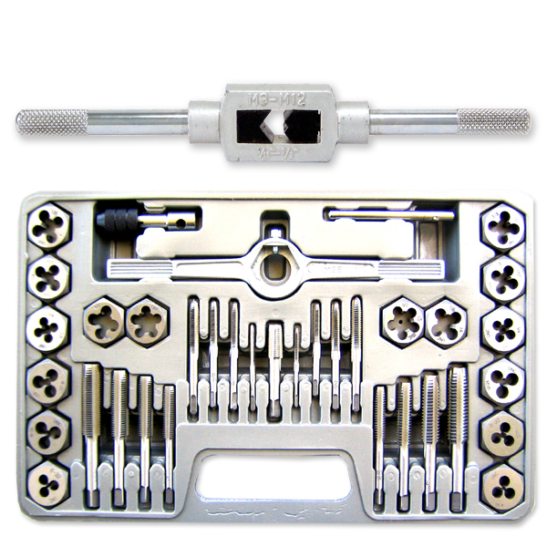 40 Piece Mm Tap & Die Set Metric Hexagon