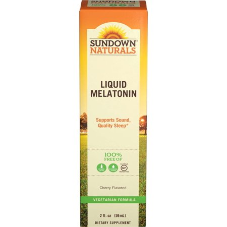 Sundown Naturals Melatonin Liquid Nighttime Sleep Aid Cherry, 2.0 FL OZ
