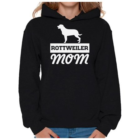 Rottweiler Adult Sweatshirt - Awkward Styles Women's Rottweiler Mom Graphic Hoodie Tops Dog Mom Gift Idea