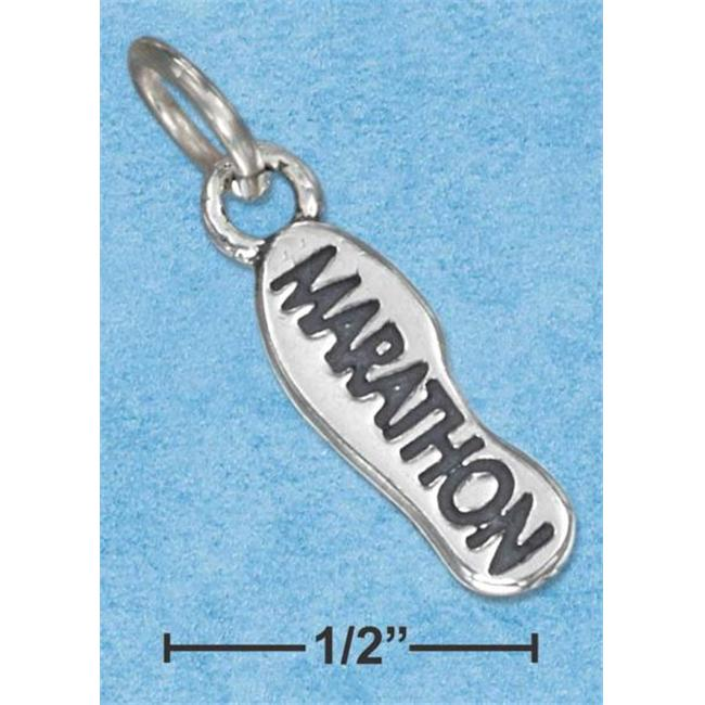 Sterling Silver Sneaker Sole with Marathon Charm