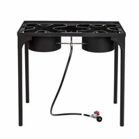 Akoyovwerve 2 Burners Outdoor Stove for Cooking 150000-BTU Propane Gas Cooker Portable Camping Stove