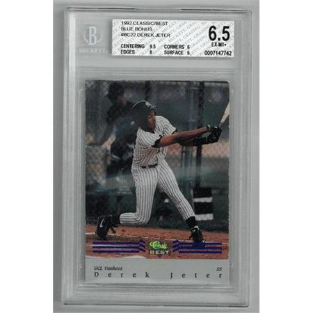 Athlon Sports CTBL-022102 New York Yankees Derek Jeter 1992 Classic Best Blue Bonus Rookie Baseball Card No.BC22- BGS Graded 6.5 Excellent & Mint