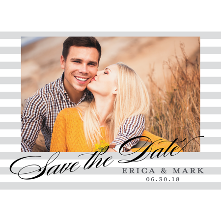 Personalized Wedding Save the Date Postcard - Classic Date - 4.25 x 5.5 Flat - Save The Date Destination Wedding