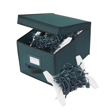 Elf Stor Green Christmas Light Strand Storage Box Organize over 400 Ft of Lights - Elf Store Nyc