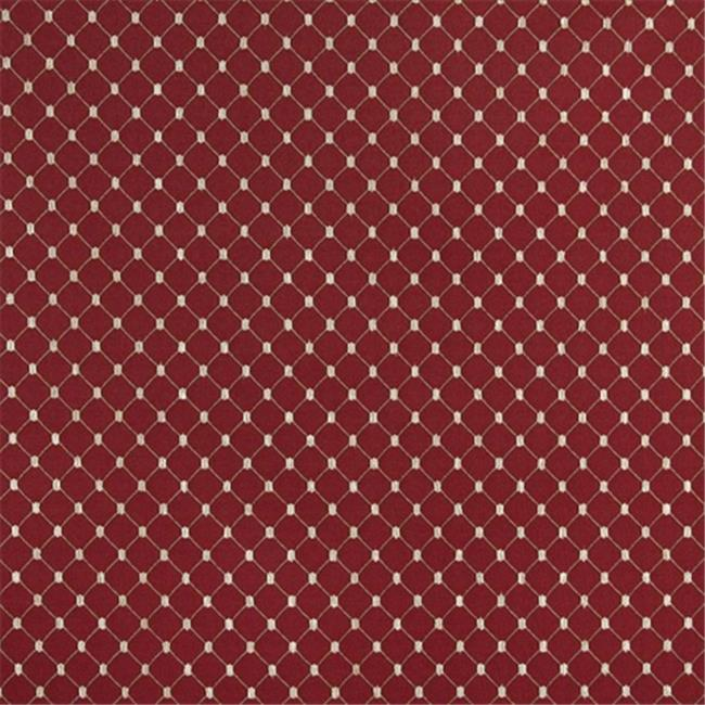 Designer Fabrics D329 54 in. Wide , Beige And White Diamond Jacquard Woven Upholstery Fabric