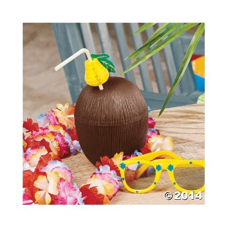 COCONUT CUPS (1 DOZEN) - BULK by FX - Plastic Coconut Cups