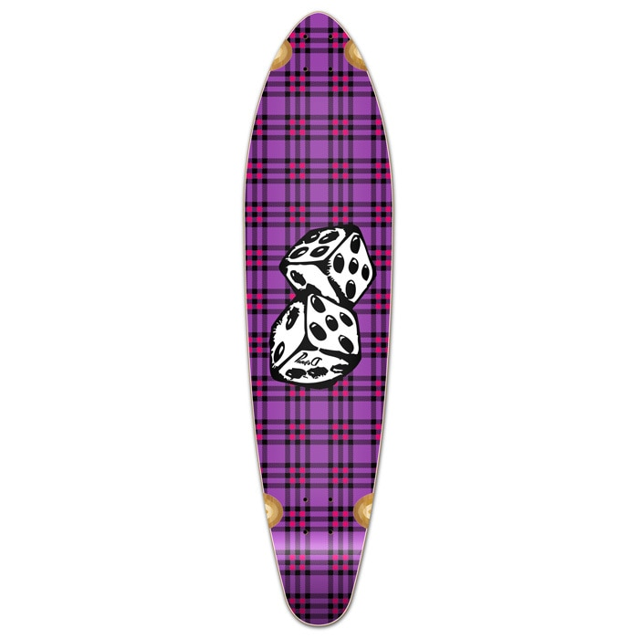 Yocaher Kicktail Dice Longboard Deck by Yocaher