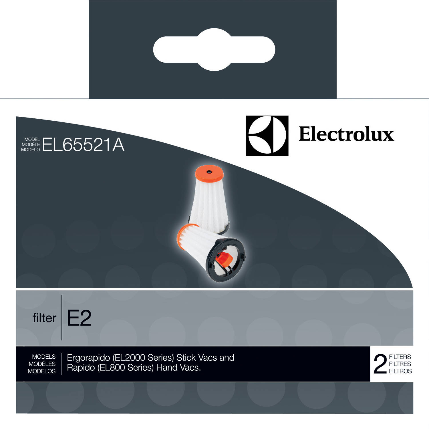 Electrolux Ergorapido EL2000 Series and Rapdio Vacuum Filter, Pack of 2