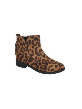 Wonder Nation Lucky Leopard Ankle Boot (Toddler Girls)