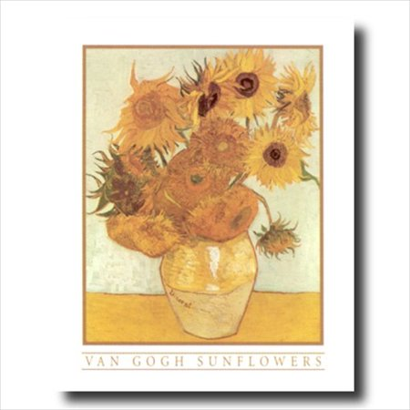 Van Gogh Sunflowers Floral Wall Picture Art Print