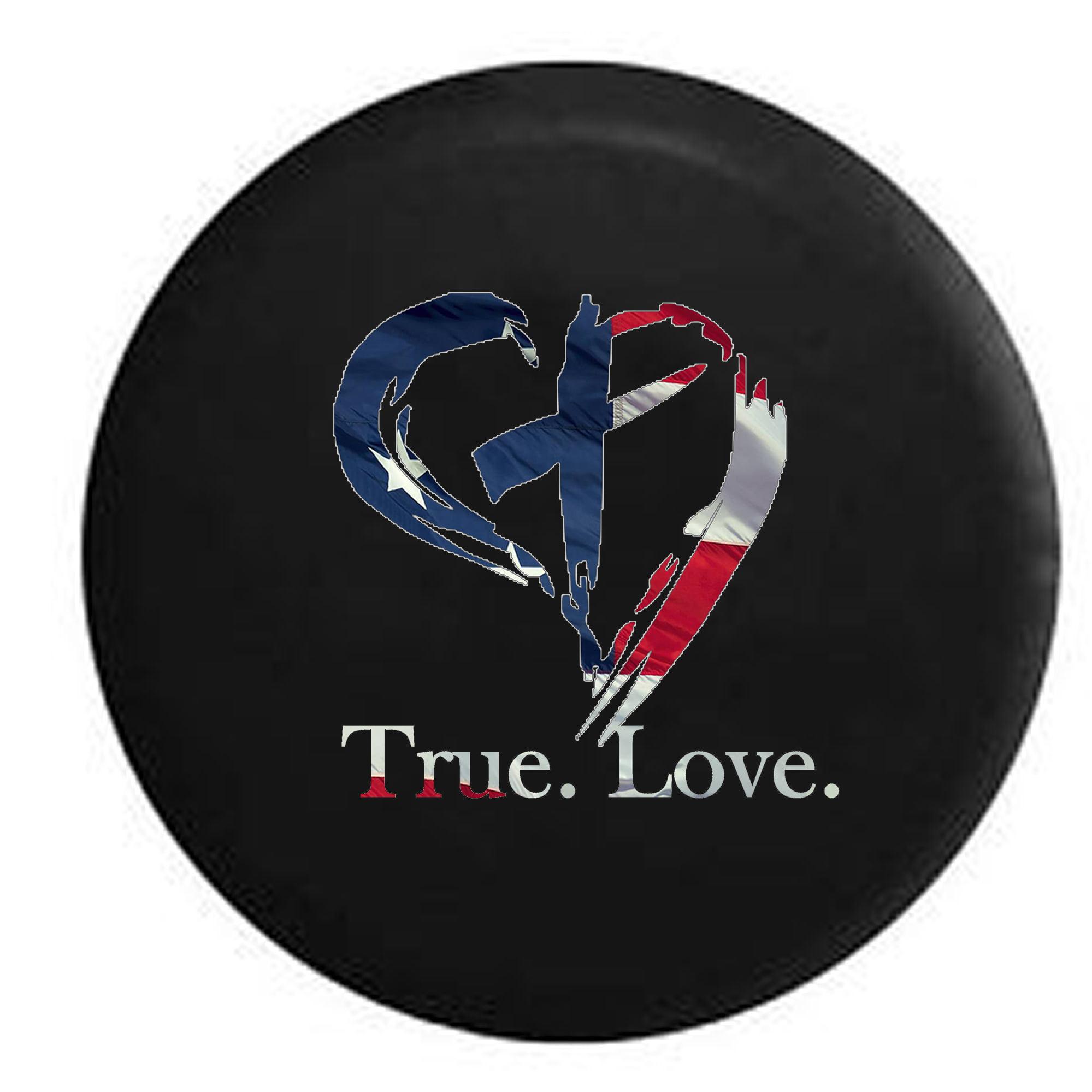 Heart Artistic Love Jeep Gir lSpare Tire Cover Vinyl Black 33 in
