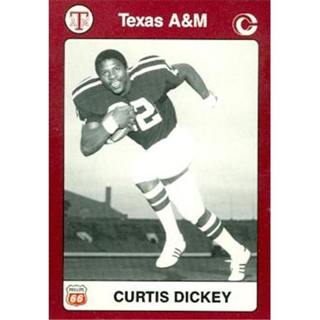 Curtis Dickey Football Card (Texas A&M) 1991 Collegiate Collection No.29