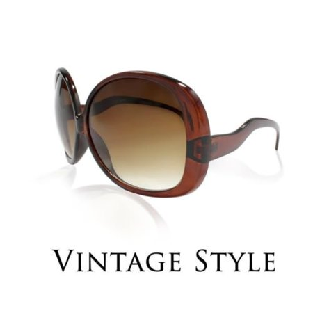 Large Designer Sunglasses - Designer Retro Vintage Style Large Oversized Womens Square Sunglasses Black