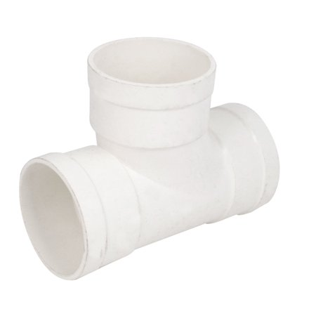 75mm inner dia pvc t type 3 way water pipe hose joint for White plastic water pipe