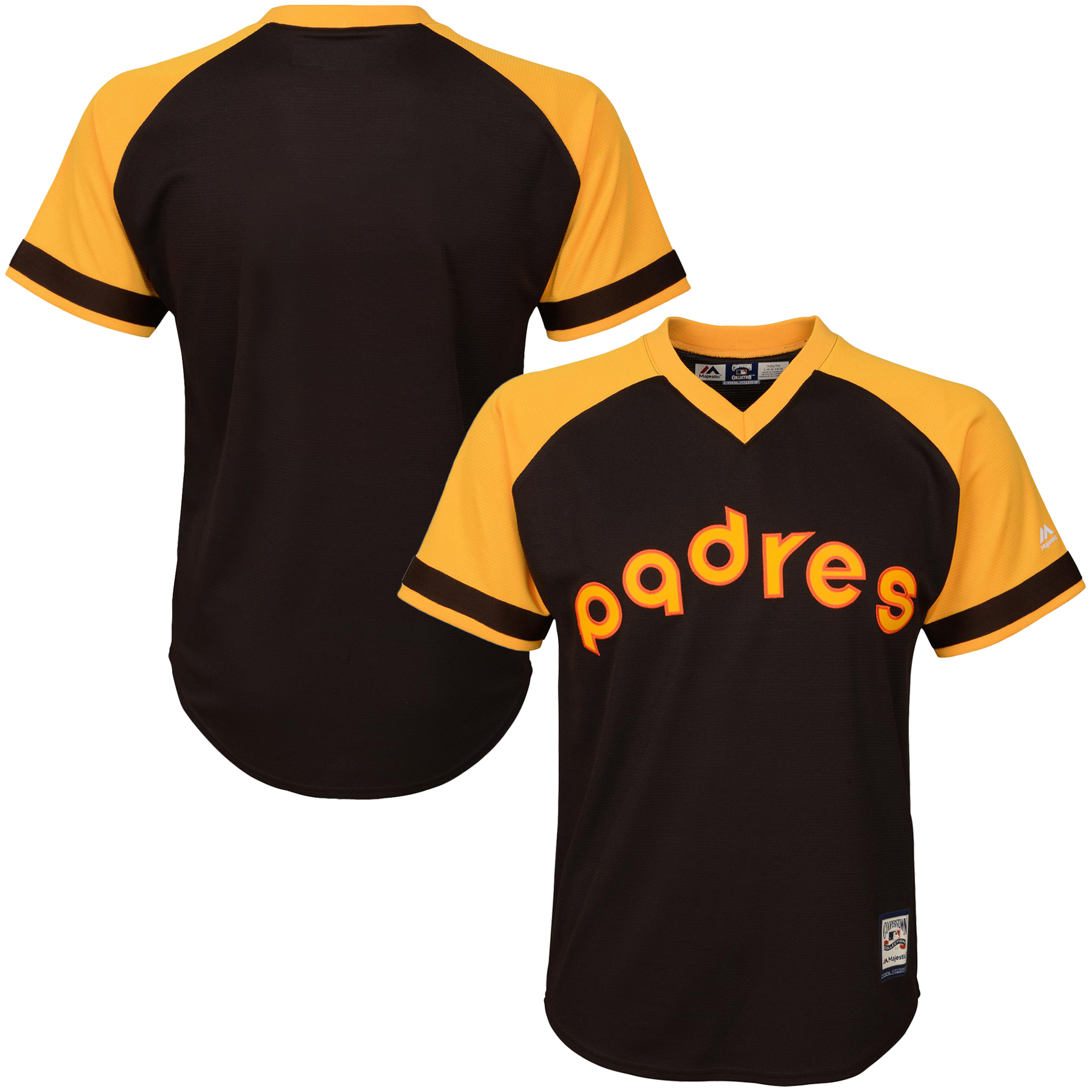 San Diego Padres Majestic Youth Alternate Cooperstown Collection Cool Base Jersey - Brown