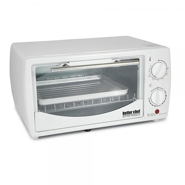 0.32 Cubic Foot Toaster Oven Broiler Color: White by