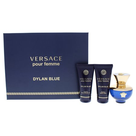Dylan Blue by Versace for Women - 3 Pc Gift Set 1.7oz EDP Spray, 1.7oz Shower Gel, 1.7oz Body Lotion ()
