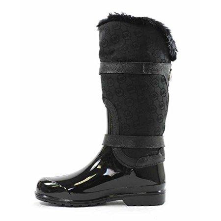 9b0dbad62134 Michael Kors - Michael Kors Fulton Mid Womens Black Jacquard Rain Boots -  Walmart.com