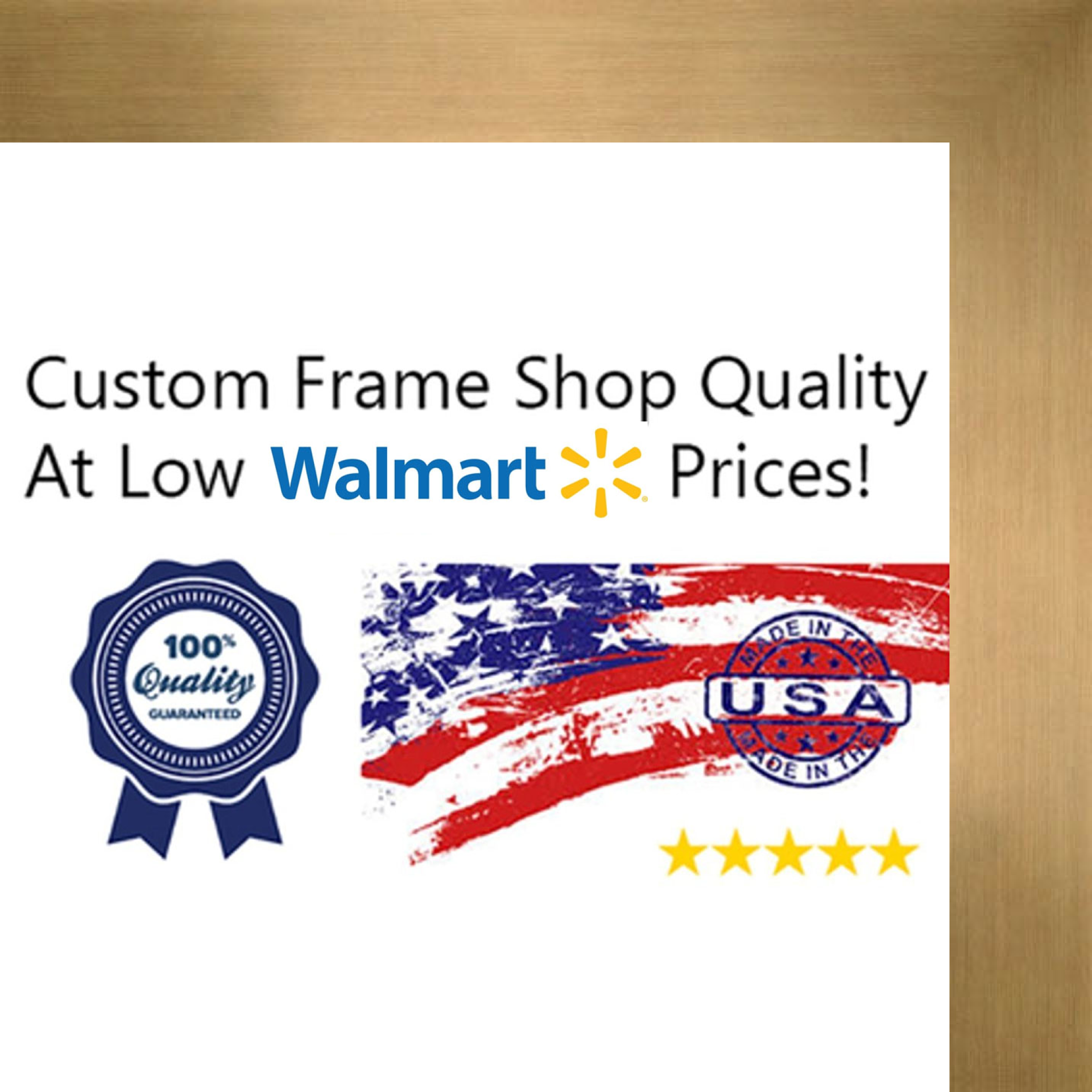 14x18 Brown Metallic Wood Frame - 'Brushed Steel' Wide - Great for Posters, Photos, Art Prints, Mirror, Chalk Board