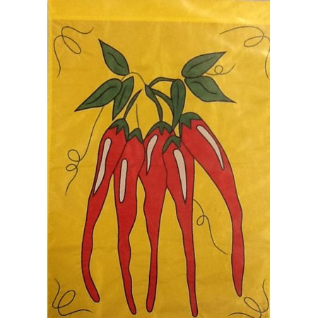Chili Peppers Applique Summer House Flag Embroidered