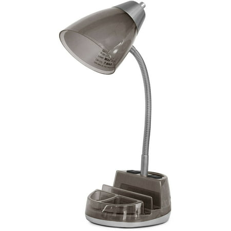 Mainstays Organizer Black Desk Lamp- 19