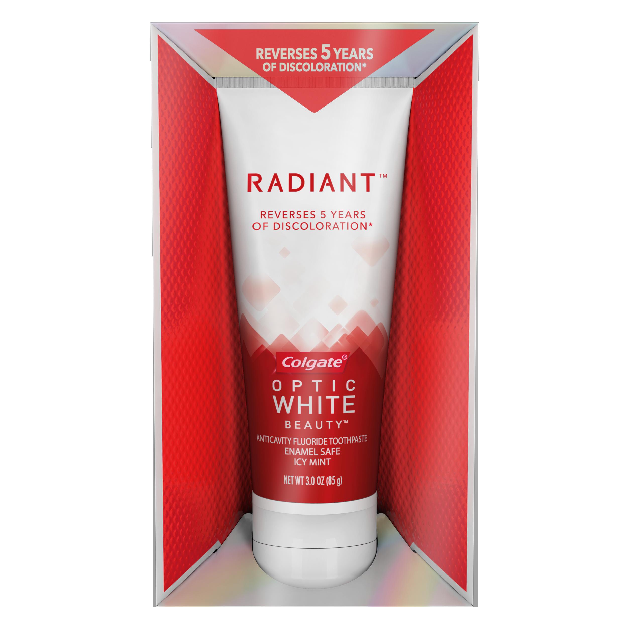 Colgate Optic White Beauty Radiant Whitening Toothpaste, 3 Oz