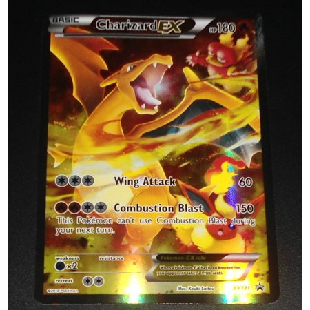 Charizard EX Full Art Promo XY121 Pokemon Red and Blue Collection, From USA,Brand
