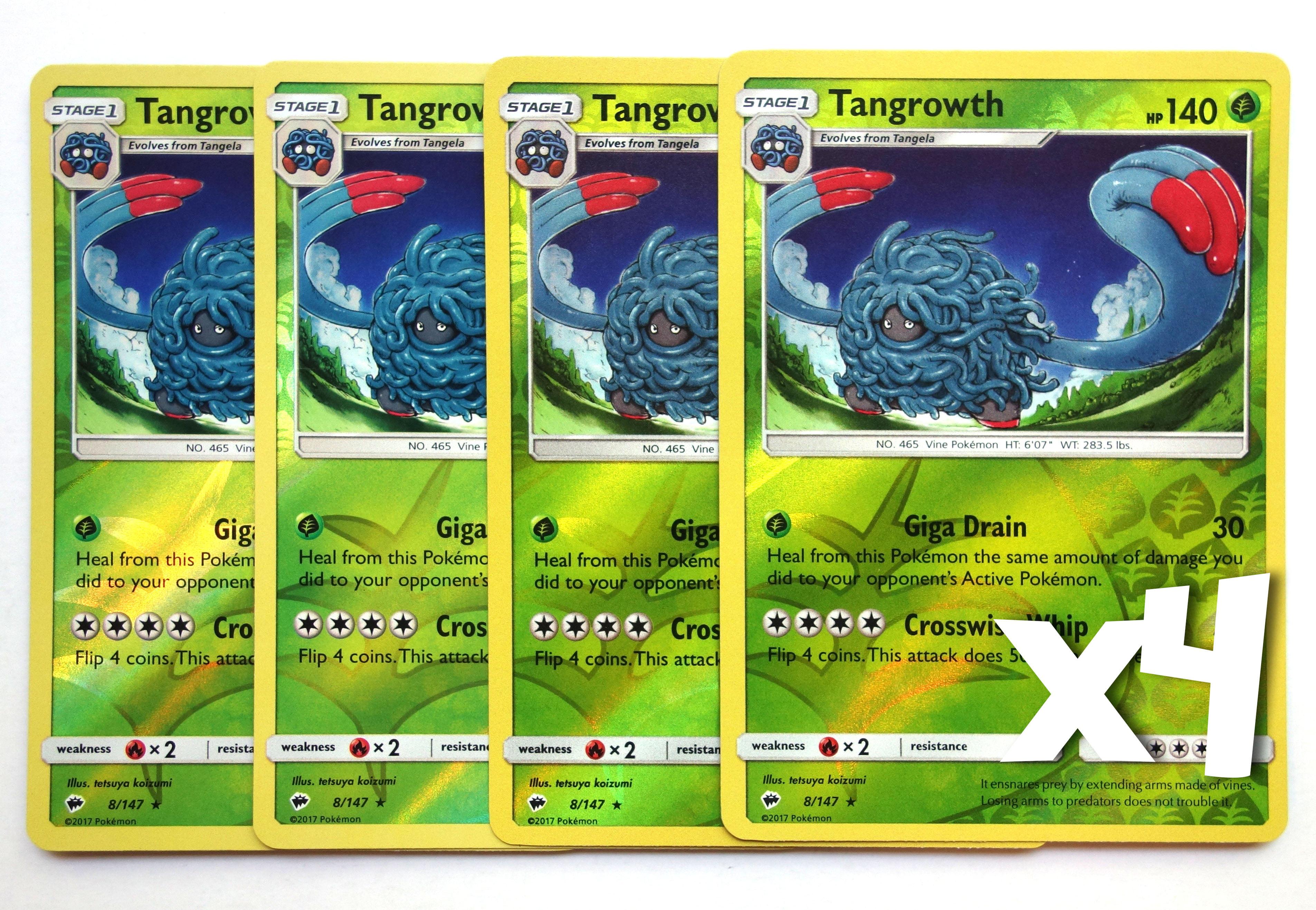 Pokemon Tangrowth 8//147 Sun /& Moon Burning Shadows REVERSE HOLO PERFECT MINT