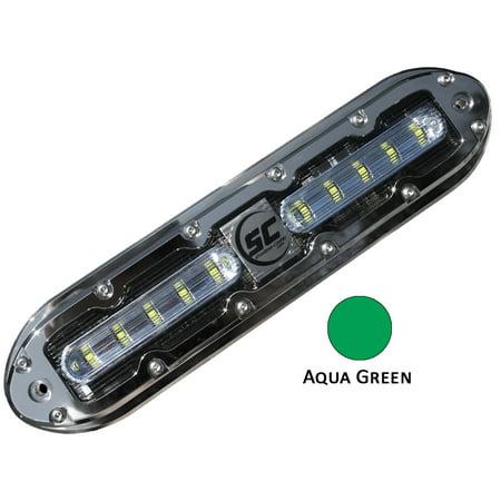 Shadowcaster Marine Lighting 18315056 Sale - Shadow-caster Scm-10 Led Underwater Light W/20' Cable - 316 Ss Housing - Aqua Green 10 Underwater Housing