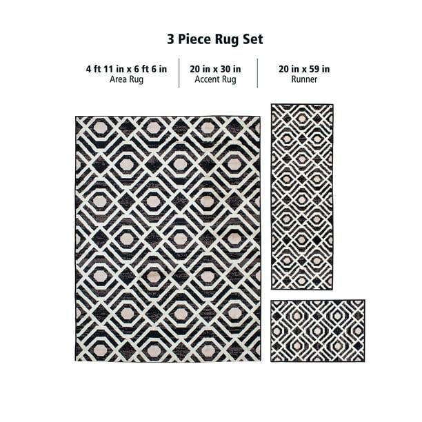 3 Piece Area Rug Set