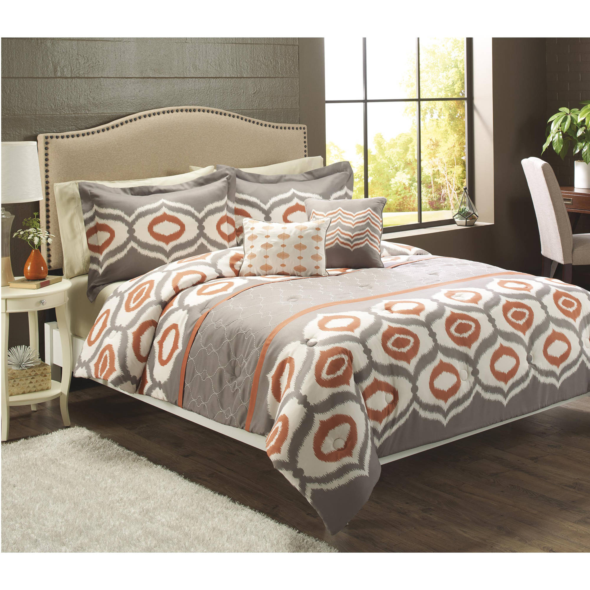 Better Homes and Gardens Ikat Trellis 5-Piece Bedding Set