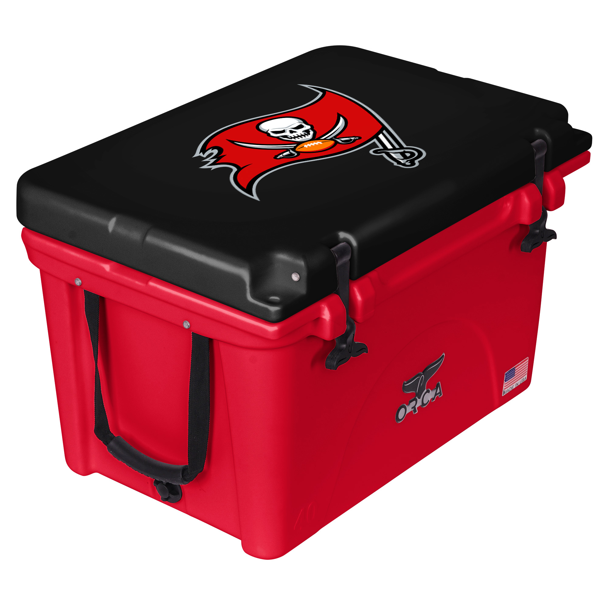 Tampa Bay Buccaneers ORCA 40-Quart Hard-Sided Cooler - Red/Black - No Size