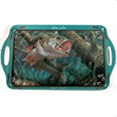 Motorhead Products 11 by 18-Inch Melamine Serving Tray, Featuring Wild Wings Licensed Art with Fish by Mark Susinno
