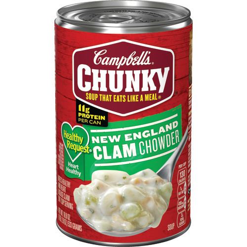 Campbell's Chunky Healthy Request New England Clam Chowder, 18.8 oz.