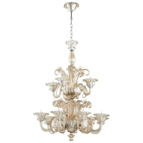 Cyan Design LaScala Twelve Light Chandelier LaScala 12 Light 2 Tier Shaded Chand by Cyan Design