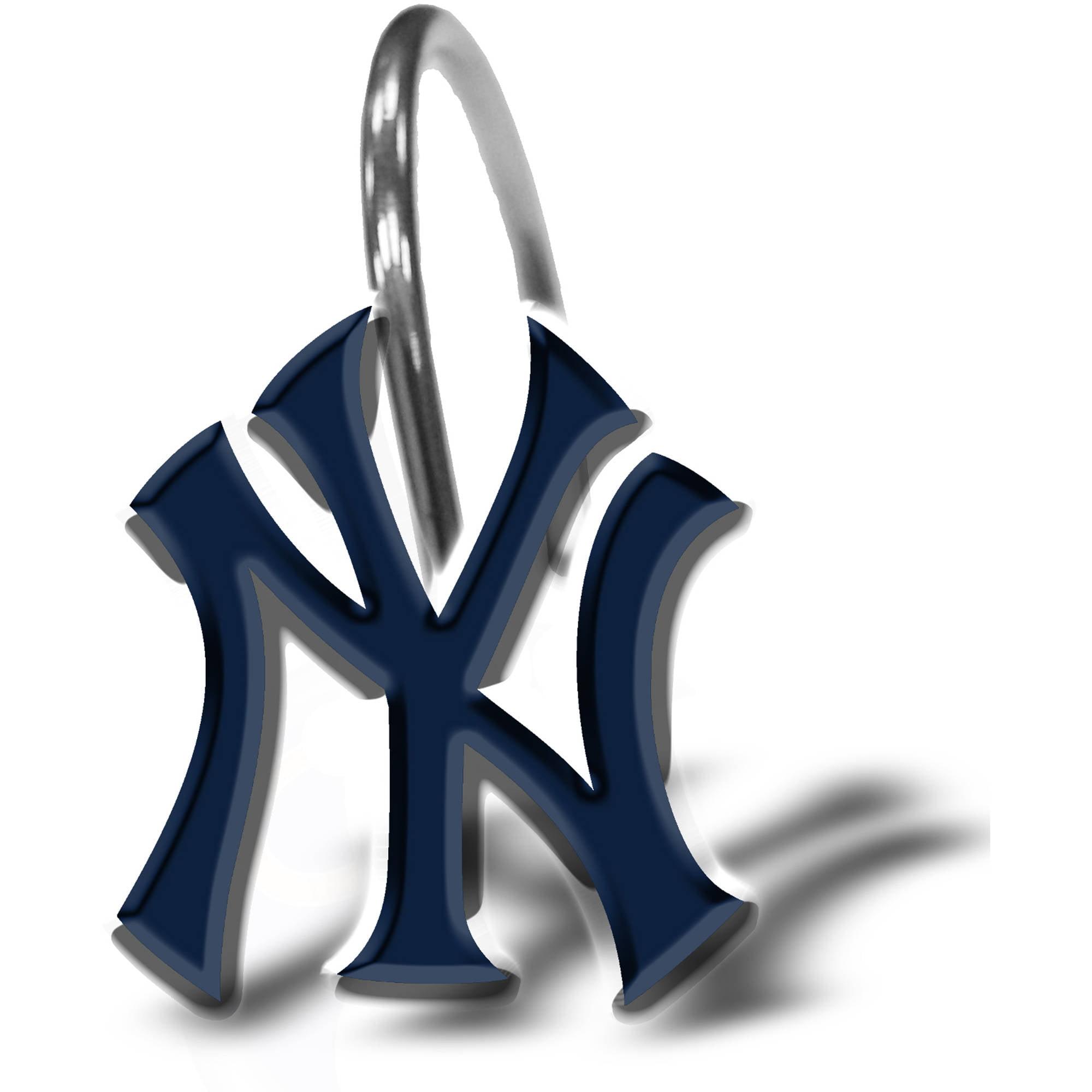 Mlb new york yankees 12 piece shower curtain ring set walmart biocorpaavc Image collections
