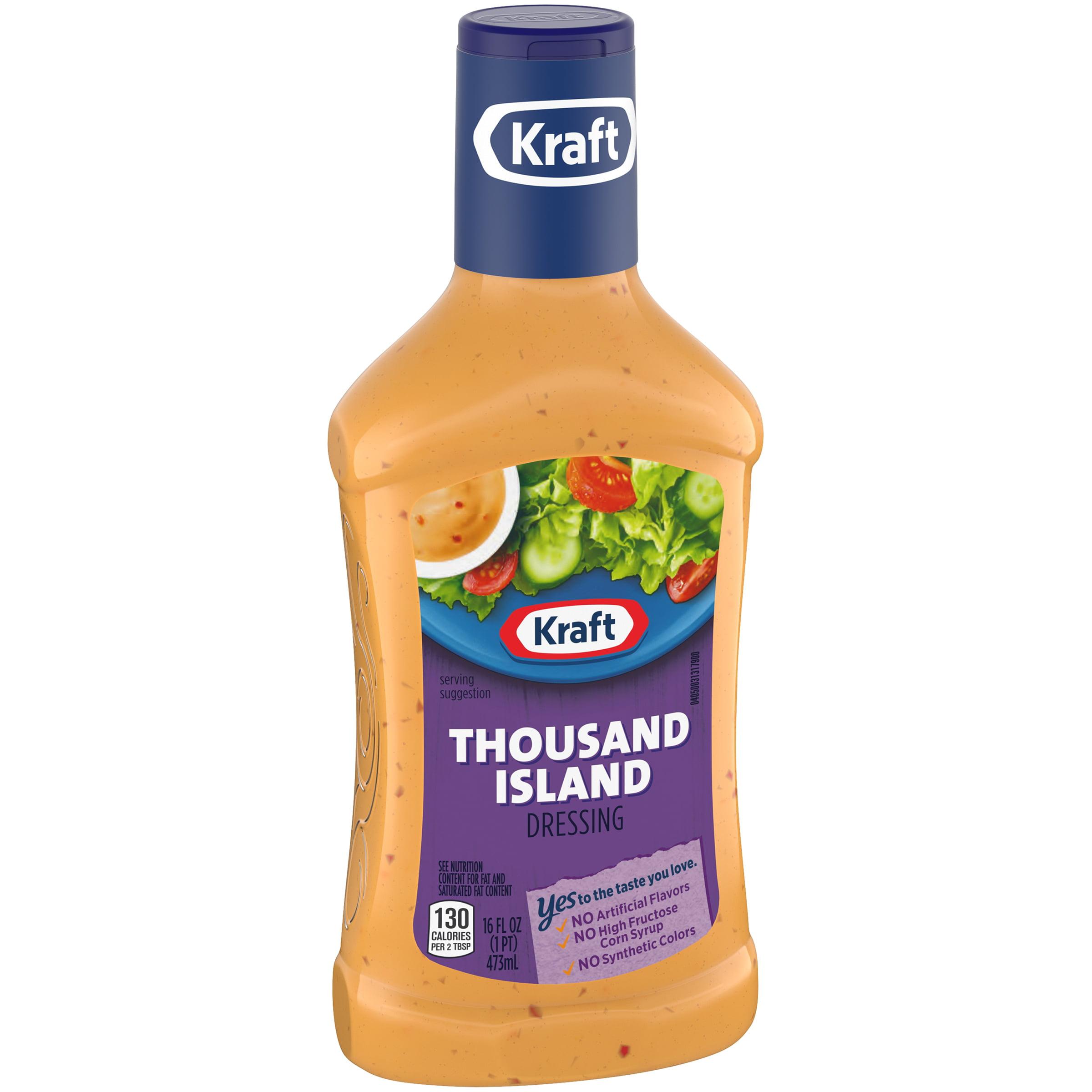 Kraft Thousand Island Dressing 16 Fl Oz Bottle Walmartcom