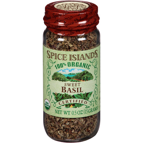 Spice Islands 100% Organic Sweet Basil, 0.5 oz, (Pack of 3)