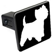 """Westie, Dog 1.25"""" Tow Trailer Hitch Cover Plug Insert"""